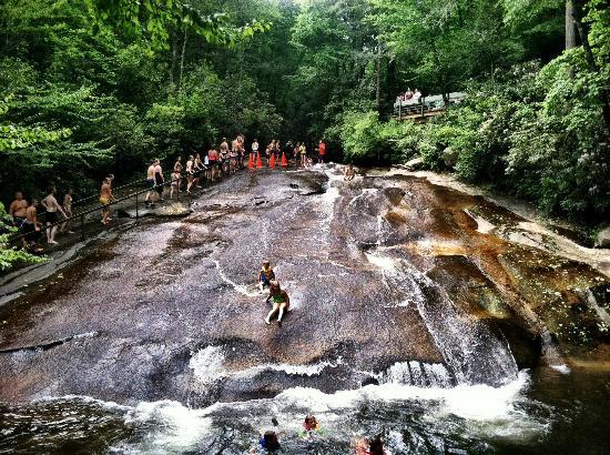 falls sliding-rock